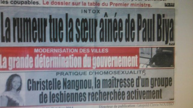 Portada periódico Christelle Nangdou