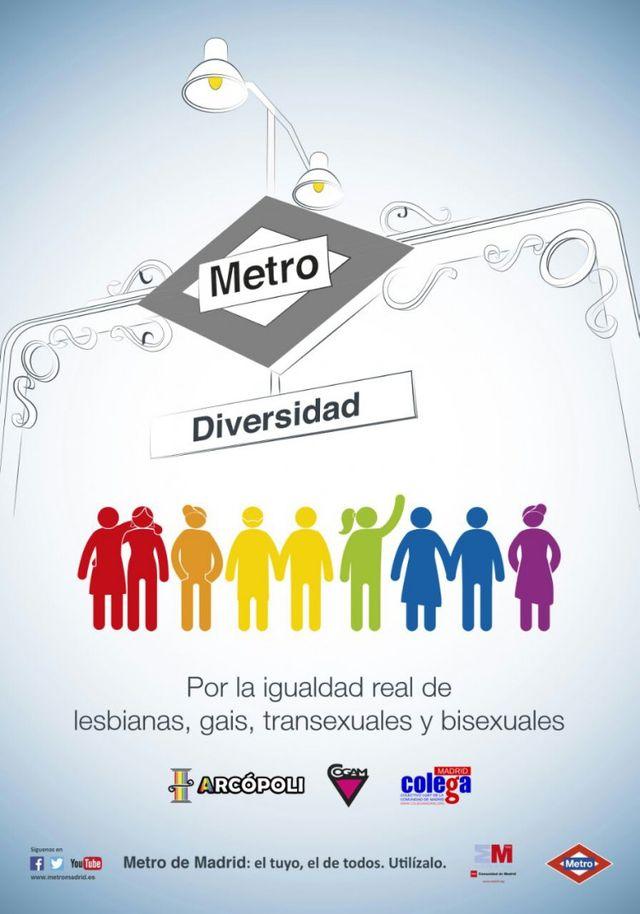 Campaña Diversidad LGTB gay Metro de Madrid