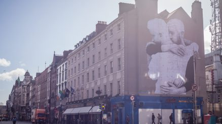 Mural de Joe Caslin en Dublín, fotografía de David Sexton