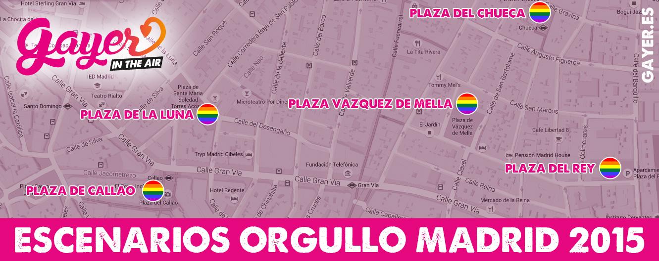 Mapa Escenarios Orgullo Madrid 2015 (MADO)