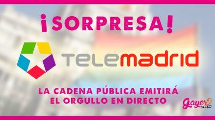 Telemadrid emitirá por primera vez el orgullo en directo