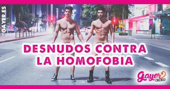Desnudos contra la homofobia en Brasil