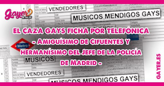 El caza gays del Metro de Madrid ficha por telefónica