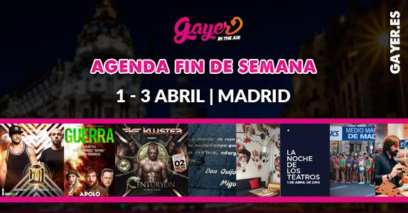 AGENDA FIN DE SEMANA MADRID