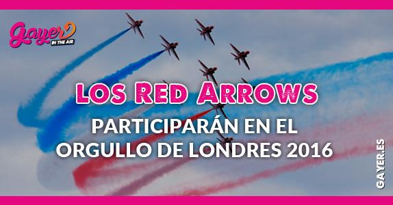 Los Red Arrows participarán en el Orgullo de Londres 2016