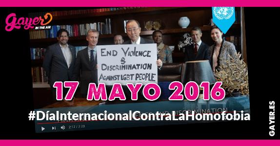 17 mayo 2016 - #DíaInternacionalContraLaHomofobia