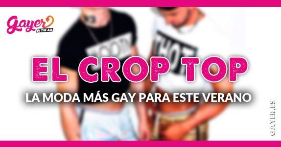 La moda mas gay para este verano es el crop top para lucir abdominales