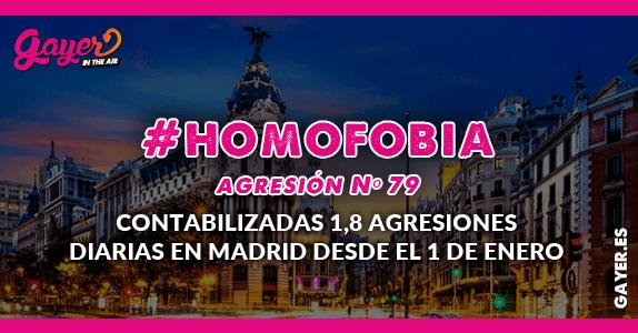 #Homofobia - Madrid: agresión número 79