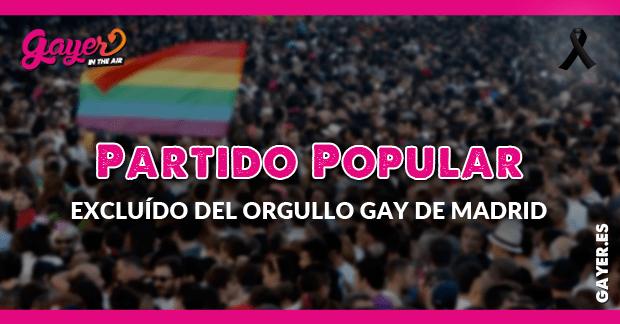 El PP excluído del Orgullo Gay de Madrid