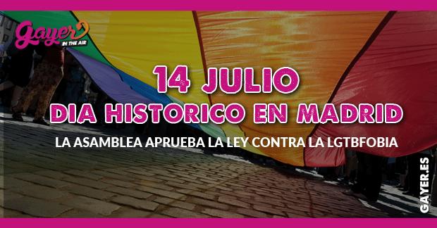 Día histórico contra la LGTBfobia en Madrid