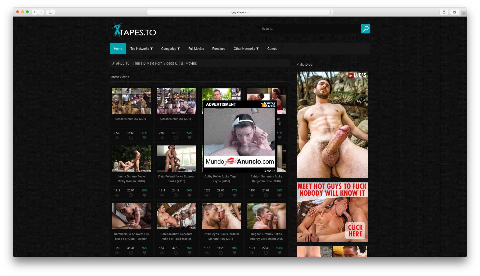 pantallazo de la web gayxtapes | LAS 10 MEJORES PÁGINAS DE PORNO GAY GRATIS