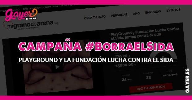 PlayGround y Fundación Lucha Contra el Sida, juntos contra el sida