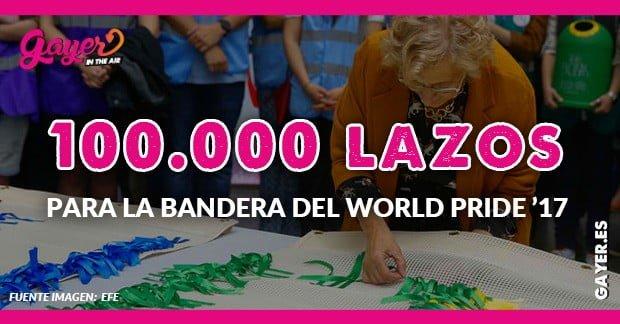 100.000 lazos para la bandera gay del World Pride