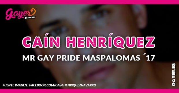 Caín Henríquez Mr Gay Pride Maspalomas 2017