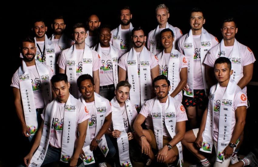 Jordan Bruno es el mas guapo de los candidatos de Mr Gay World 2018