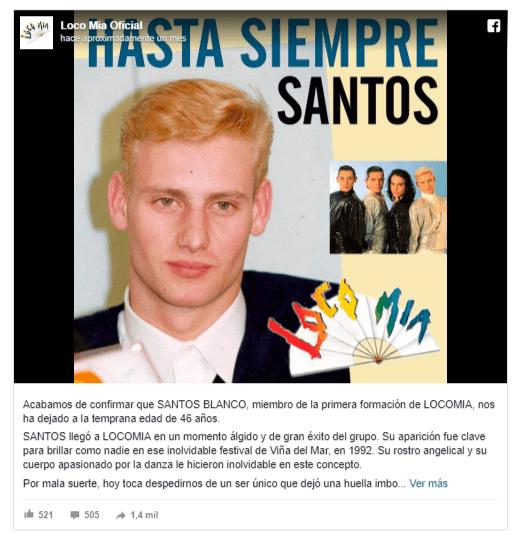 Santos Blanco y Frank romero eran miembros de Locomia