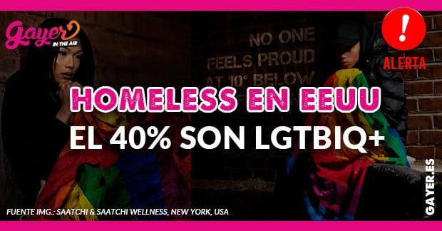 EL 40% DE LOS HOMELESS EN EEUU SON LGTBIQ+