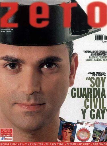 perpinya es el primer guardia civil gay en salir en una revista como 'zero' haciendo pública su condición sexual